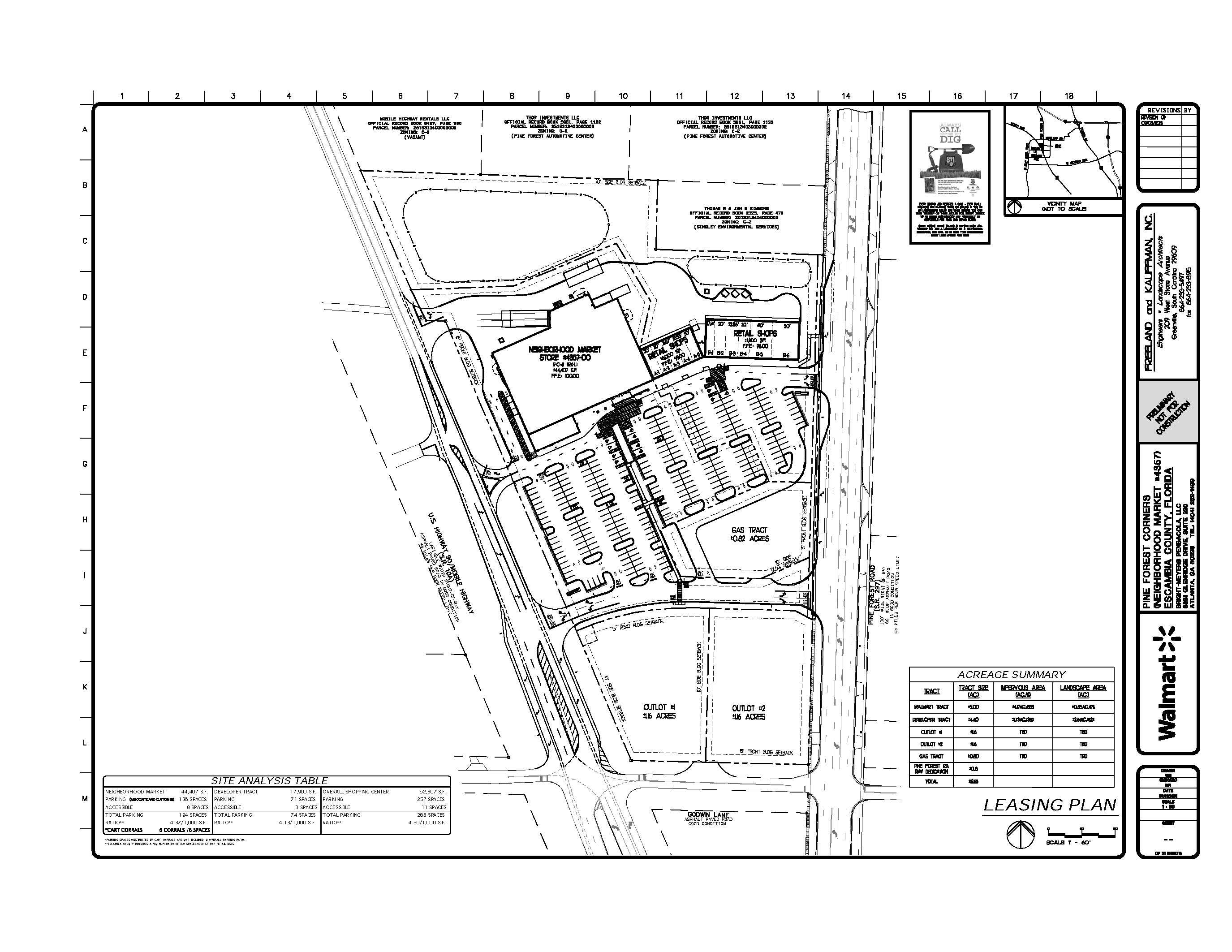 Pine Forest Corners Site Plan