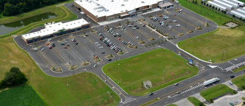 shopping center aerial